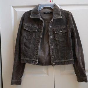 cropped corduroy jacket